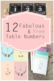 free table number templates free printable table numbers