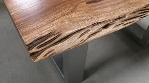 couchtisch akazie agra massivholz 80x80 cm akazie baumkante
