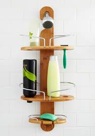 shower tower caddy telescopic corner bathroom shelves reviews good clean shower caddy tan rustic better solid bathroom