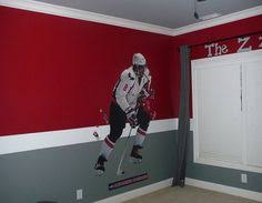 Awesome Doesnt Do This Pic Justice Hockey Art Pinterest - Boys hockey bedroom ideas