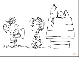 snoopy christmas coloring pages printable free valentine click