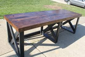 How To Organize An Office Desk by How To Build This Trestle Desk From Scrap Lumber