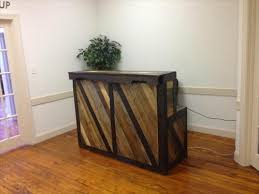 Reception Desk Wood 13 Amazing Wood Pallet Reception Desk Pallets Designs
