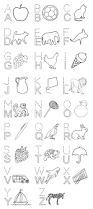 alphabet part i coloring printable page for kids alphabets and