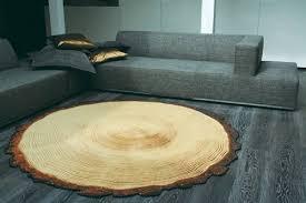 log floor log rug echostains