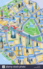 Map Of Shanghai China Shanghai Pudong Map Of Pudong Business Area Stock Photo