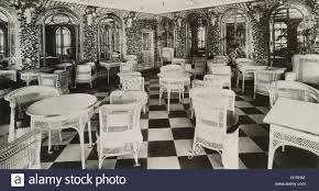 the verandah cafe in the titanic ship march 1912 also known as