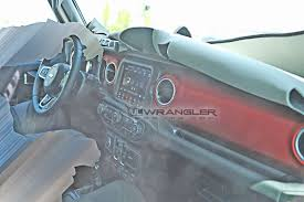 jeep bandit interior first look production interior of the 2018 jeep wrangler jl jlu
