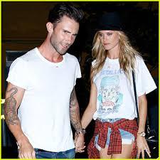 behati prinsloo wedding ring newlyweds adam levine behati prinsloo hold for post
