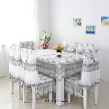 table pastoral dining table cloth piece set chair cover cushion