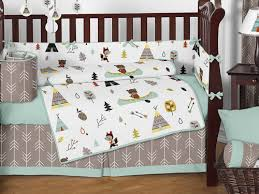 outdoor adventure nature baby bedding 9pc crib set by sweet jojo