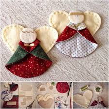 diy fabric ornaments just simply me