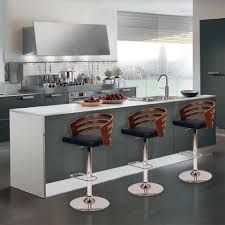 furniture red modern swivel bar stools with arms on red leg