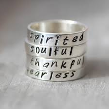 silver name rings personalized custom word rings sterling silver name rings