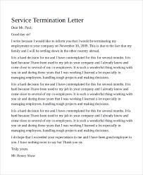 sample termination letter 9 examples in word pdf