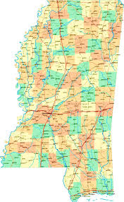 Tennessee Map With Cities by Mississippi Map With Cities Counties State Map