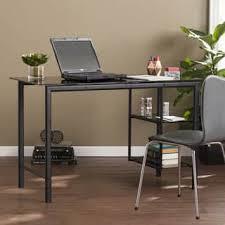 Glass Desk Office Glass Desks Computer Tables For Less Overstock