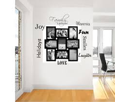 17 family photo wall ideas you can try to apply in your home decoration family photo wall art design with quotes and black wooden frame on the white