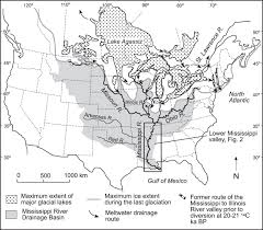 Map Of The Mississippi River Fluvial Evolution Of The Lower Mississippi River Valley During The