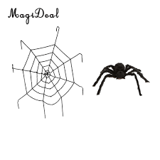 online shop large black spider u0026 5ft spiderweb cobweb web