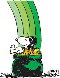 peanuts s day st s day snoopy and woodstock s nap on a pot o gold