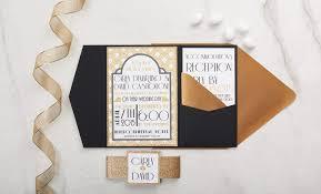 deco wedding invitations deco wedding invitation all that glitters invitations