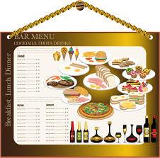 restaurant menu design 02 vector free vector 4vector