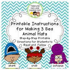 sea life hats teaching the little people