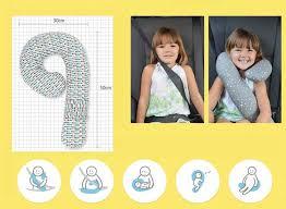kids travel pillow images Car seat belt doll position controller travel neck pillow for kids jpg