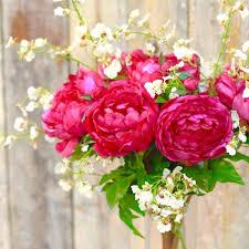 flowers uk luxury artificial fuchsia peony bouquet amaranthine blooms