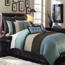 60 hudson blue 12 bed in a bag bedding set