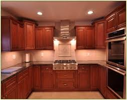 what backsplash looks with cherry cabinets kitchen backsplash cherry cabinets within kitchen tile