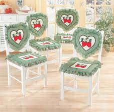 8 pc country style sweet strawberry design kitchen chair cushion