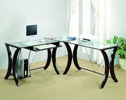 Wooden Corner Desk Top Have Slide Out Drawer For Keyboard by Stylish Walker Edison Premium Soreno Corner Desk Large L Shaped