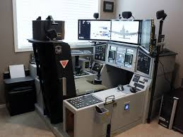 Gaming Setup Desk Best Ideas About Flight Sim On Pinterest Monitor Gaming Setup With