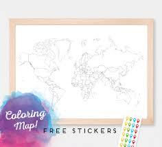 Blank World Map by World Map For Coloring Blank World Map Countries World Map