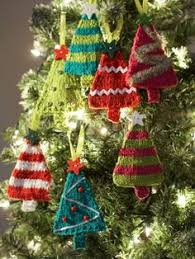 tiny tree ornaments knit ornaments ornament