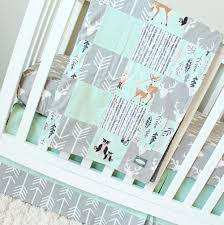 Baby Nursery Bedding Sets Neutral Mint Woodlands Crib Bedding Gray Baby Bedding Set Arrows Bears