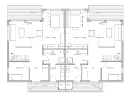 duplex house plan with four bedrooms house plan