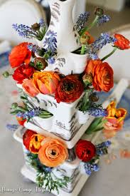 peonies and orange blossoms french country spring table setting