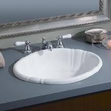 oval drop in sink oval bathroom sinks drop in the oval fluted drop in sink is the