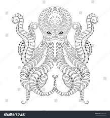 tattoo octopus hand drawn zentangle tribal stock vector 424601542