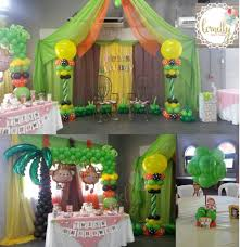 monkey twins baby shower balloons decorations jungle balloons