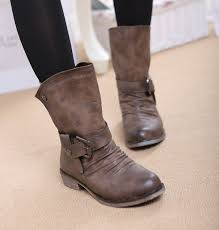 womens boots mid calf brown sandi pointe library of collections