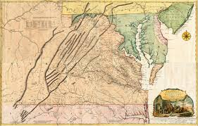 Map Of Virginia by Fry Jefferson Map Of Virginia 1755 4 Sheet Large Set Battlemaps Us