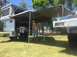 Trail Pop Up Awning Trailer With Slide On Camper On Top Steel Trailer 4wd Diy