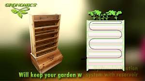 self watering vertical planters gronomics vertical garden youtube