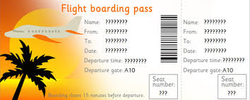 editable airline tickets eyfs ks1 role play free early years