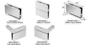 cardiff series shower door hinges glass door hinges