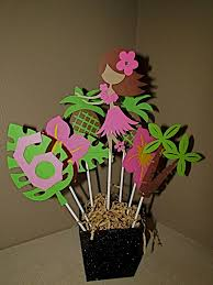 luau table centerpieces luau aloha hula girl birthday centerpiece luau party table